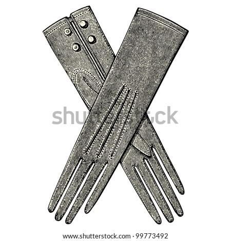 woman gloves    vintage