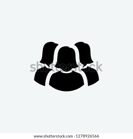 woman group icon vector