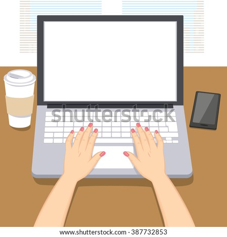 woman hands writing working on