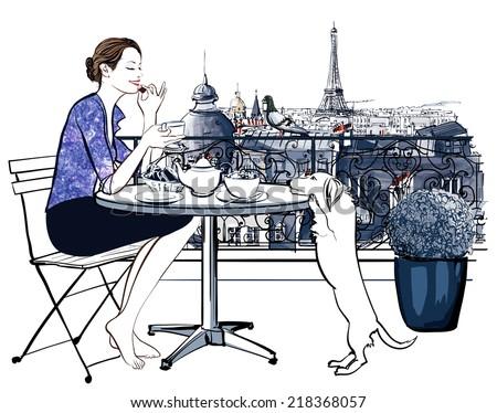 woman having breakfast on a