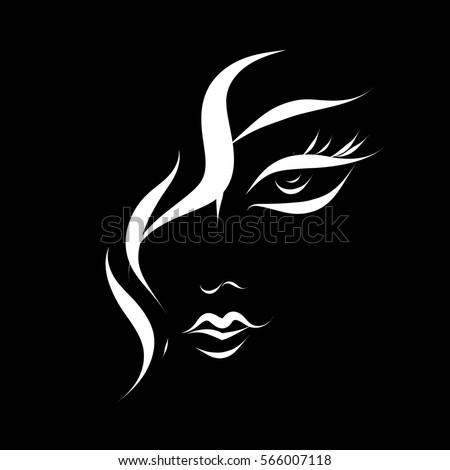 woman head abstract silhouette