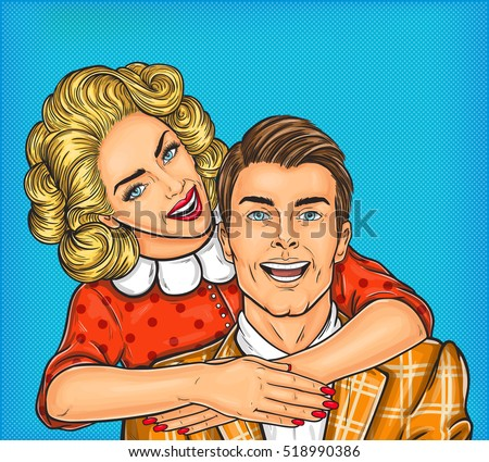 woman hugs her man
