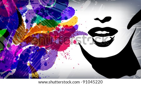 Woman image, fashion background concept