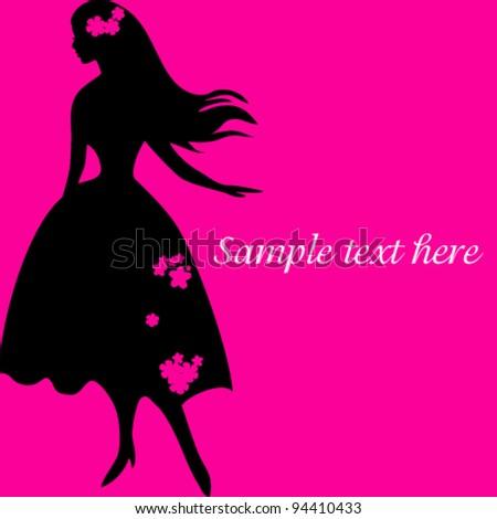Woman image, fashion background concept