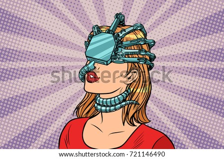 woman in a virtual reality