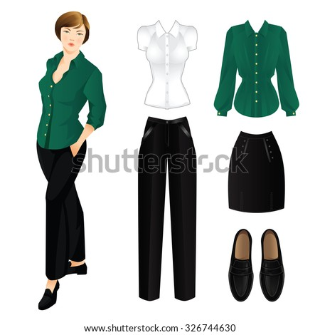 woman in black pants and green