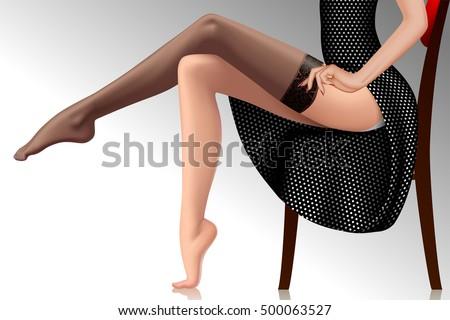 woman in black retro dress