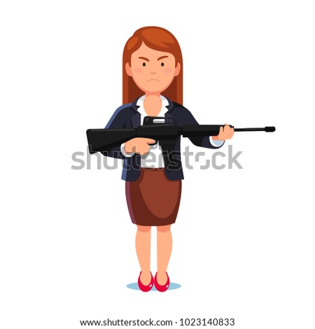 woman in business suit posing