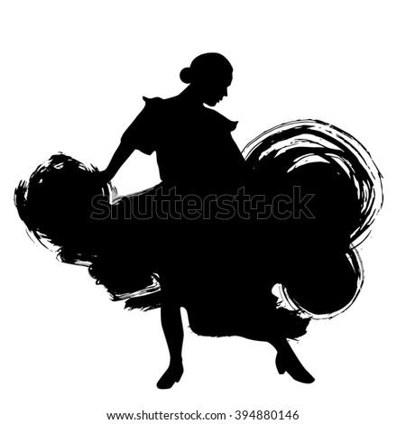woman in long dress stay in