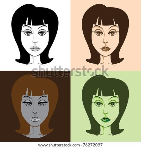 Woman in pop-art style illustration
