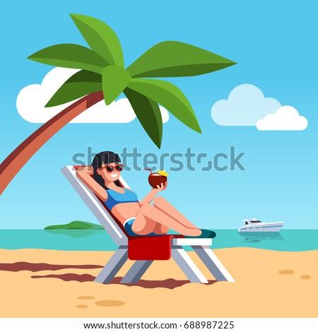 woman in swimsuit sunbathing