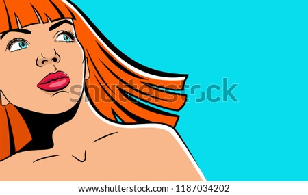 woman in the pop art comics