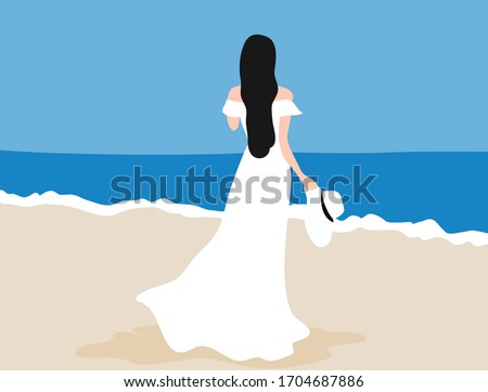 woman in white dress holding