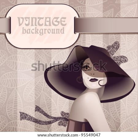 woman in wide brimmed hat  a