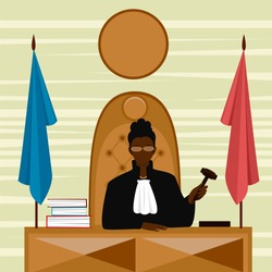 woman judge. African-American woman chief justice. woman lawyer