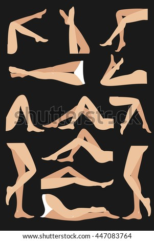 woman legs in different poses