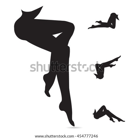 woman legs vector icon