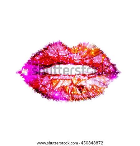 woman lips love valentine kiss