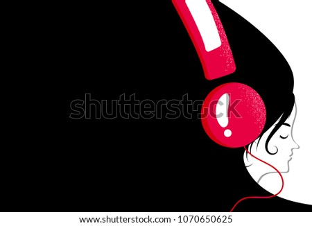 woman listens music with her