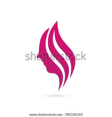woman logo, beauty salon