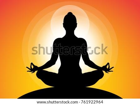 woman meditating in sitting