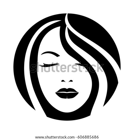 woman model hair face icon