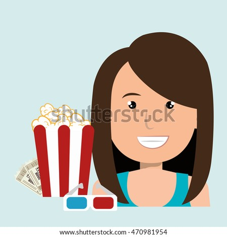 woman movie video theater