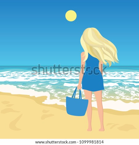 woman on a beach  young female