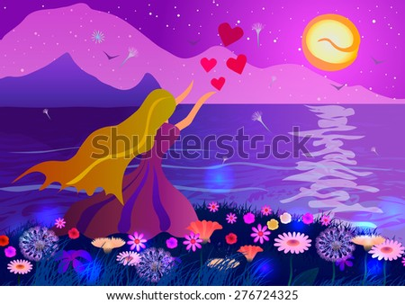 woman on the ocean coast at