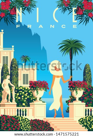 woman on vacation on french