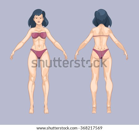 front and back human body outline - Monza berglauf-verband com