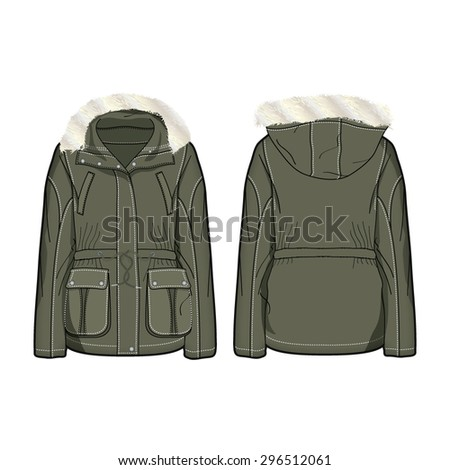 woman parka jacket