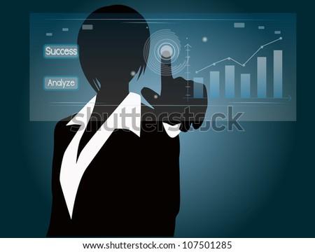 woman press the chart
