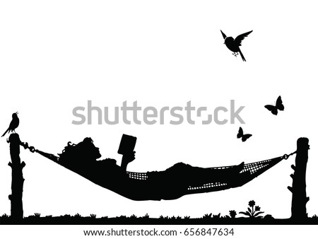 woman reading a book relaxing