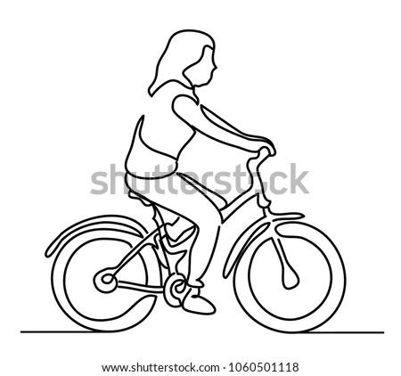 Girl On Bicicleta Vector Download Free Vector Art Stock Graphics