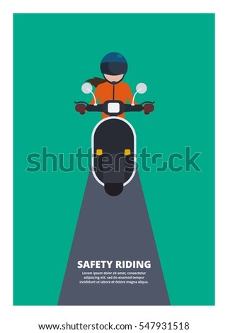 woman riding scooter  safety