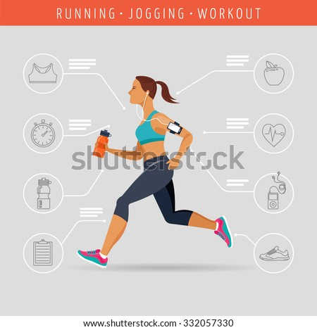 woman running  jogging