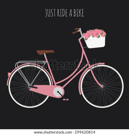 woman's bicycle  vector