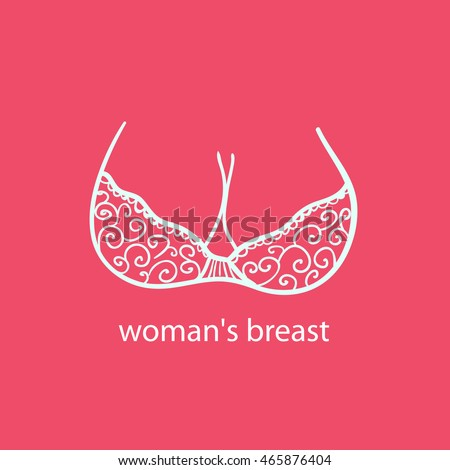 woman's breast icon  logoboobs