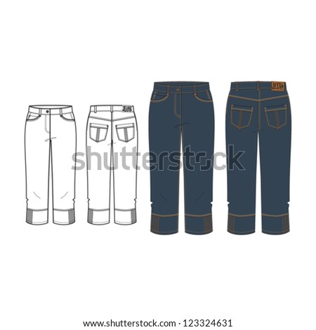 woman's capri jeans technical