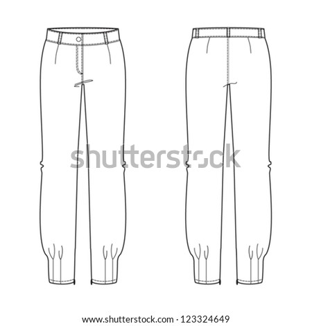 Patternmaking furthermore Vol4aa together with Saxon Remembers Kurt Saxon moreover How To Draw Woman In Pantsuit In 5 together with Women Pants Sketch Creative Image. on slacks drawing