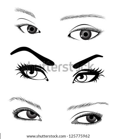 woman's eyes vector illustration