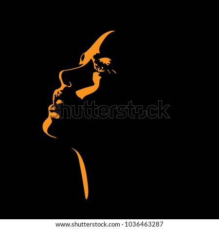 woman s face silhouette in