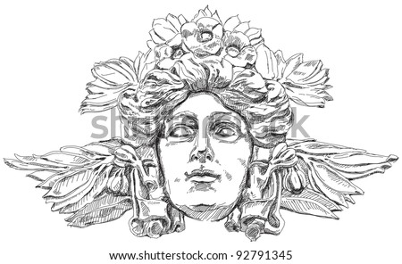 woman's face with olive