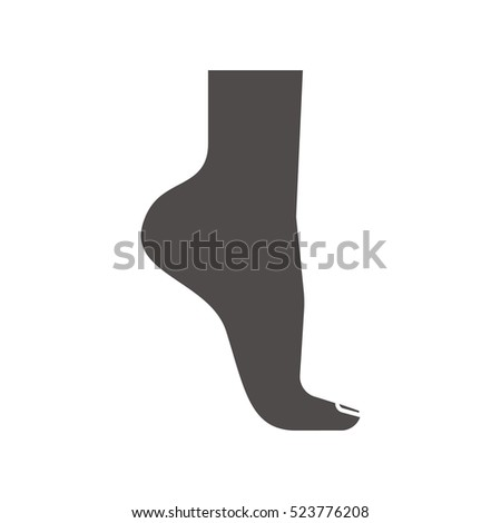 woman's foot icon silhouette