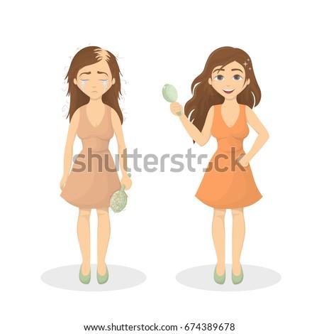 Woman's hair loss.