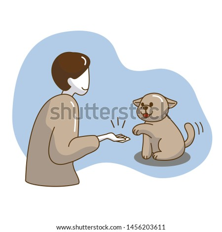 woman's hand holding dog's paw