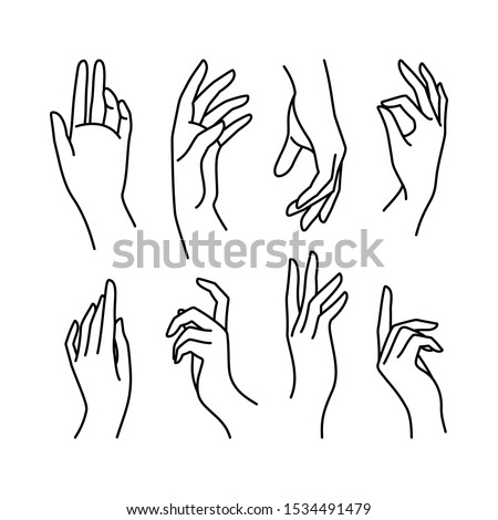 woman's hand icon collection