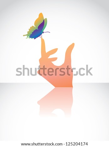 Woman's Hand with Butterfly