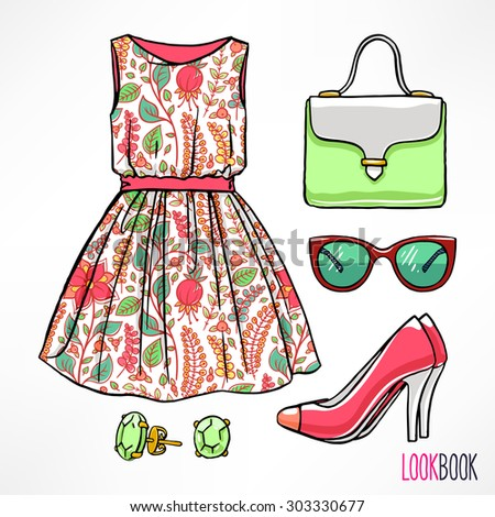 woman's summer outfit dress